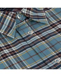 Paul Smith Men's Sky Blue Check Pop-over Shirt for men