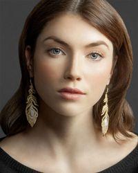 Kendra Scott | Metallic Pave Linear Druzy Feather Earrings | Lyst