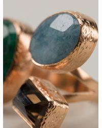 Aamaya By Priyanka - Metallic Gemstone Ring - Lyst