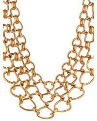 Oscar de la Renta - Metallic Twisted-Rope Necklace - Lyst