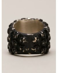 Tobias Wistisen | Black Multiple Skull Ring for Men | Lyst