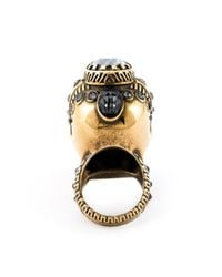 Alexander McQueen   Metallic Victorian Jeweled Skull Ring   Lyst