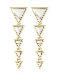 House of Harlow 1960 | Metallic Meteora Drop Earrings | Lyst