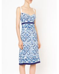 Dolce & Gabbana Blue 'majolica' Dress