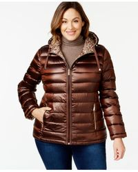 Calvin Klein | Multicolor Plus Size Reversible Printed Puffer Coat | Lyst