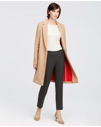 Ann Taylor | Natural Signature Wool Blend Coat | Lyst