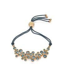 Caroline Creba | Metallic Swarovski Crystal Bracelet Gold & Blue | Lyst
