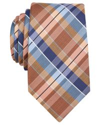 Perry Ellis | Orange Alderson Plaid Slim Tie for Men | Lyst