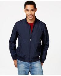 Tommy Hilfiger | Blue Beacon Full-zip Baseball Jacket for Men | Lyst