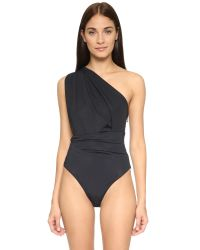 Preen By Thornton Bregazzi | Black One Shoulder Swimsuit | Lyst