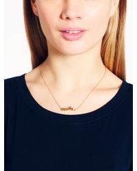 kate spade new york - Metallic Say Yes Smile Necklace - Lyst