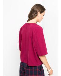 Mango - Purple Boxy T-Shirt - Lyst