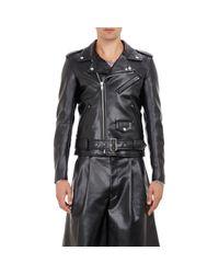 Comme des Garçons | Multicolor Faux Leather Moto Jacket for Men | Lyst