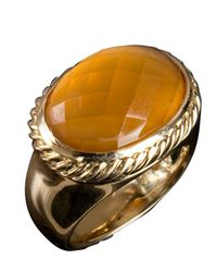 David Yurman | Orange Pre-Owned: Citrine Signature Oval Ring | Lyst