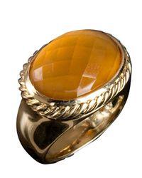 David Yurman - Orange Pre-Owned: Citrine Signature Oval Ring - Lyst