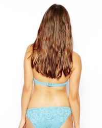 ASOS - Blue Fuller Bust Exclusive Crochet Lace Hipster Bikini Pant - Lyst