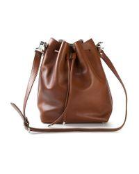 Proenza Schouler Brown Drawstring Calf-Leather Bucket Bag