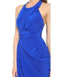 Zimmermann | Blue Back Drape Dress | Lyst