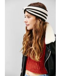 Urban Outfitters | Black Stripe Twisted Ear Warmer | Lyst