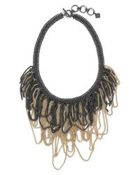 Kendra Scott | Metallic 'mystic Bazaar - Margot' Chain Bib Necklace - Gunmetal Gold | Lyst
