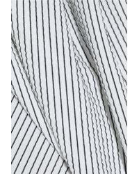 J.W.Anderson - White Draped Striped Stretch-Jersey Top - Lyst
