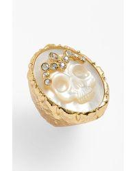 Alexis Bittar | Metallic 'Elements' Skull Stone Ring | Lyst