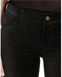 Lauren by Ralph Lauren Black Petite Velvet Skinny Pants