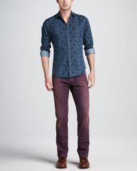 Etro Dyed Denim Jeans Purple for men