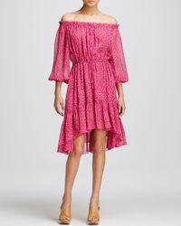 Diane von Furstenberg Pink Camila Off Shoulder Dress