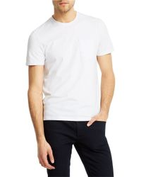 Kenneth Cole - White Stretch-Pima Crew T-Shirt for Men - Lyst