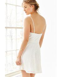 Kimchi Blue White Lace Fit + Flare Dress