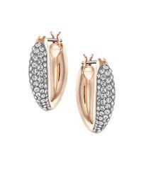 Swarovski | Metallic Circlet Crystal And Mixed-metal Huggie Hoop Earrings | Lyst