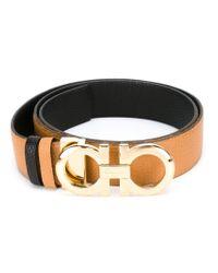 Ferragamo - Brown Gancini Bracelet - Lyst