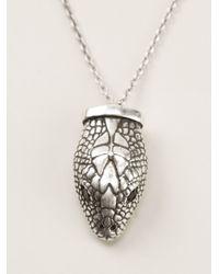 Pamela Love - Metallic Serpentine Pendant Necklace - Lyst