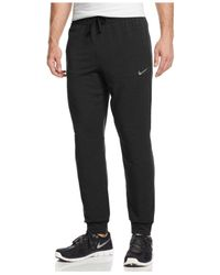 Nike | Black Men's Dri-fit Touch Fleece Joggers for Men | Lyst