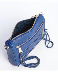 Rebecca Minkoff - Electric Blue Leather Mini 5 Zip Crossbody Bag - Lyst