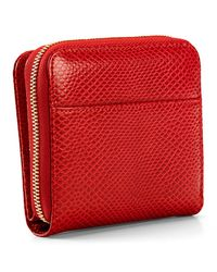 Aspinal Red Continential Mini Wallet