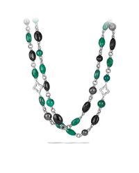 David Yurman | Bead Necklace with Black Onyx and Green Onyx | Lyst