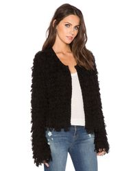 525 America | Black Crop Fringe Jacket | Lyst