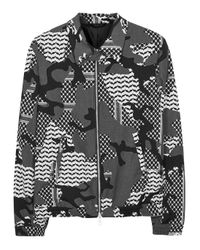 Neil Barrett Gray Glen Plaid Geometric Jacquard Blazer for men