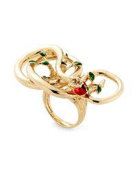 Alison Lou | Metallic 14kt Gold 'forbidden Fruit' Ring | Lyst