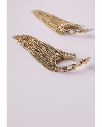 Missguided | Metallic Tassel Drop Earrings | Lyst