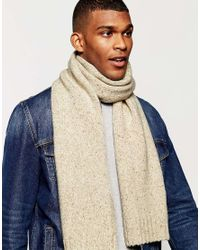 Original Penguin - Natural Wool Scarf for Men - Lyst