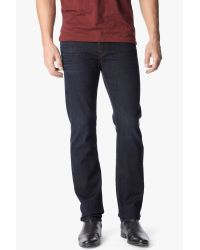 7 For All Mankind Blue Luxe Performance: Slimmy Slim Straight for men