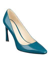 Nine West | Blue Cardio Pointy Toe Pumps | Lyst