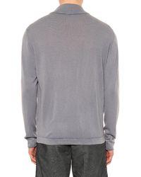 Massimo Alba Gray Cashmere-knit Cardigan for men