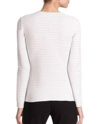 Armani - White Jacquard Knit Jacket - Lyst