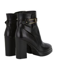 Tod's - Black Gomma T100 Leather Ankle Boot - Lyst
