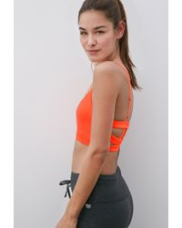 Forever 21 Pink Medium Impact - Caged Back Sports Bra