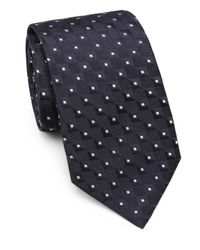 Armani | Blue Square Neat Silk Tie for Men | Lyst